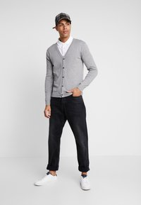 Esprit - BUTTON CARD - Cardigan - grey - 1