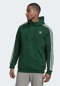 adidas Originals - STRIPES HOODIE - Hoodie - green - 0