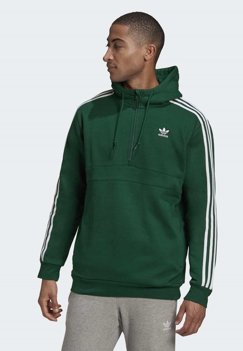 adidas Originals - STRIPES HOODIE - Hoodie - green
