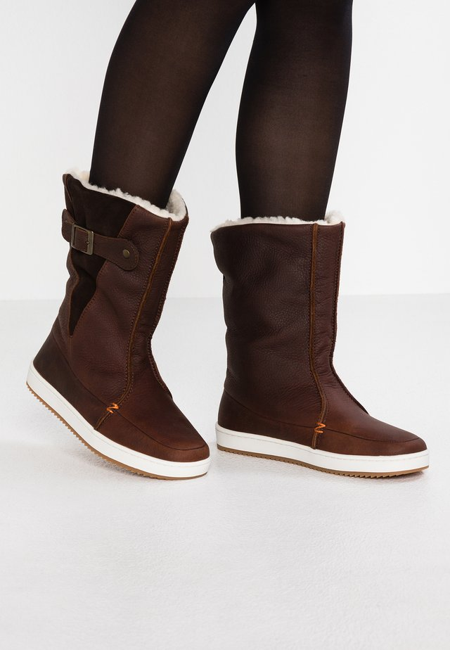 Snowboots  - dark brown/off white/dark gum
