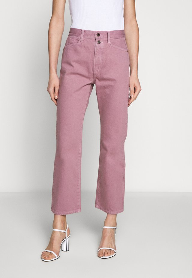 WASHED CROPPED STOVEPIPE - Straight leg jeans - lavender