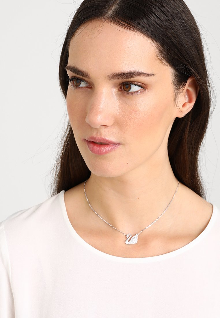 Swarovski - SWAN NECKLACE  - Necklace - silver-coloured