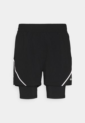 DOUBLE LAYER BERMUDA - Korte sportsbukser - black