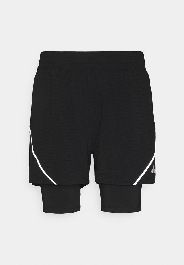 DOUBLE LAYER BERMUDA - Sports shorts - black