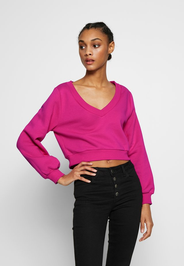 CROPPED - Sweatshirts - pink