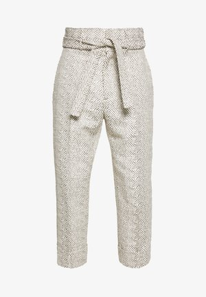 DAVID TIE UP TROUSERS - Trousers - beige