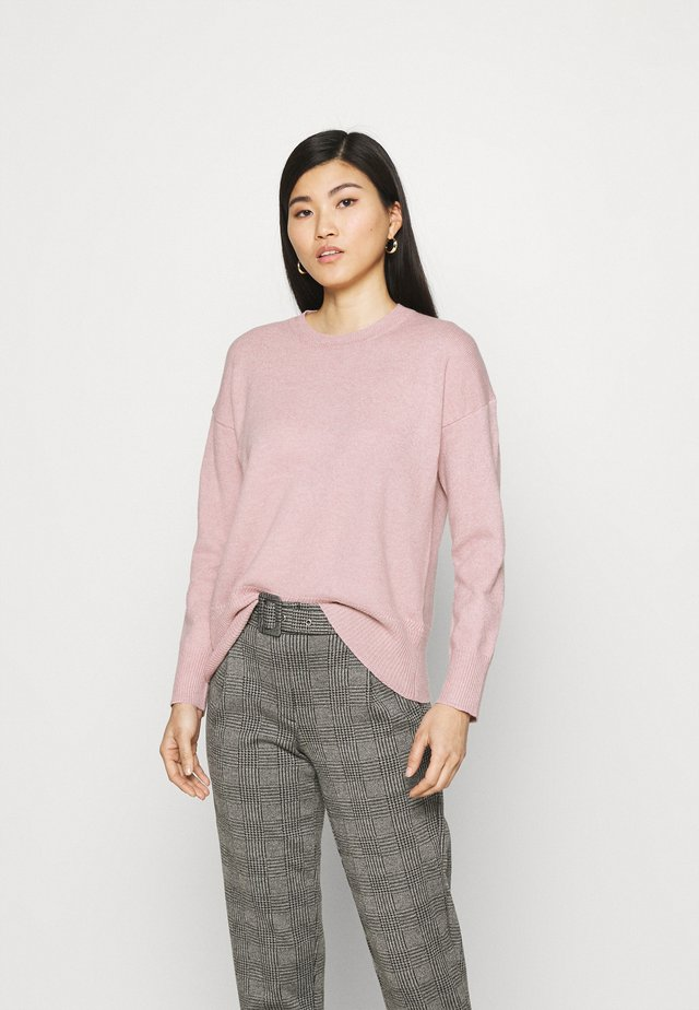 CREW NECK JUMPER - Sweter - blush