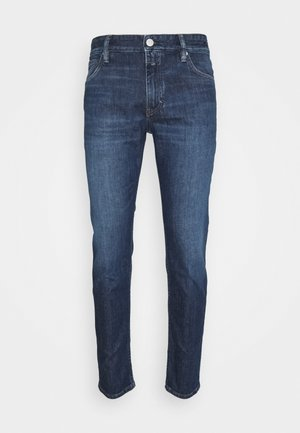 DROP CROPPED - Slim fit jeans - dark blue