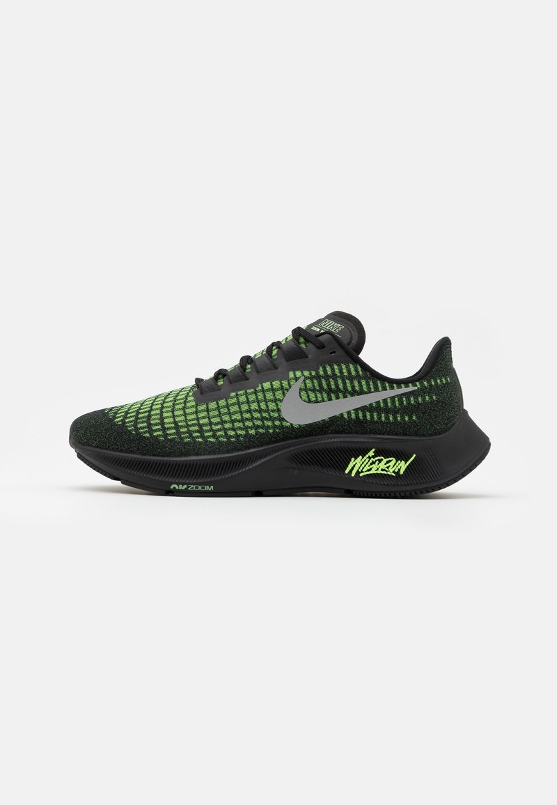 Nike Performance - AIR ZOOM PEGASUS 37 - Neutral running shoes - black/reflect silver/ghost green