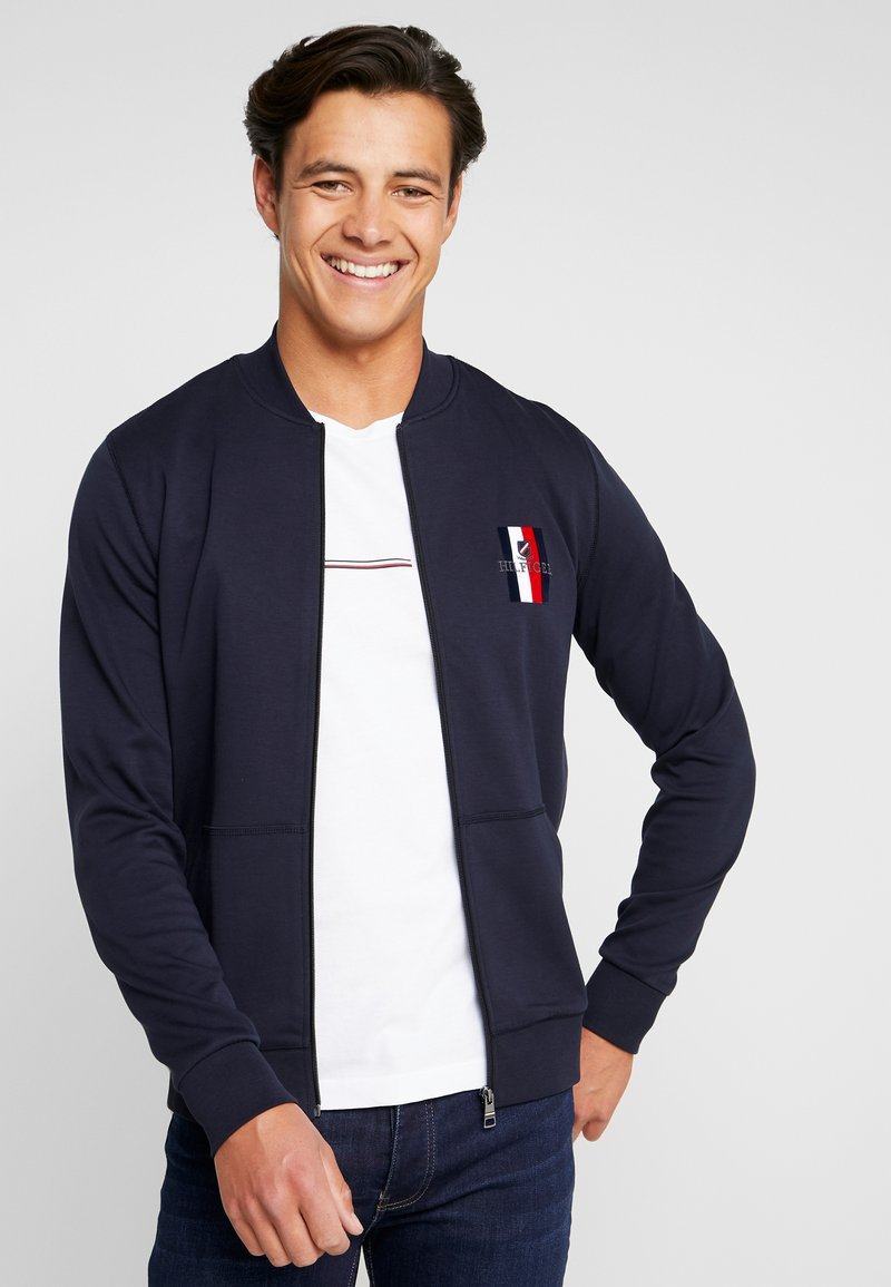 Tommy Hilfiger - FLEX LUXURY ARTWORK BASEBALL ZIP - Zip-up hoodie - blue