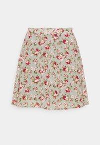 Vila - VIMILINA MINI SKIRT - Mini skirt - green milieu/red/pink - 0