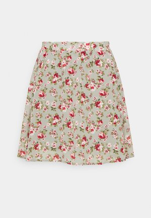 VIMILINA MINI SKIRT - Mini skirt - green milieu/red/pink