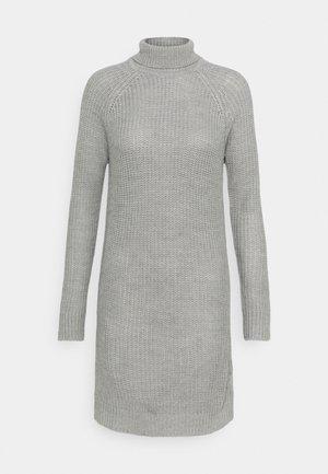 Strikket kjole - grey melange