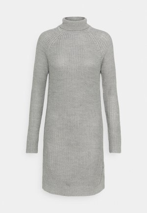 Pletené šaty - grey melange