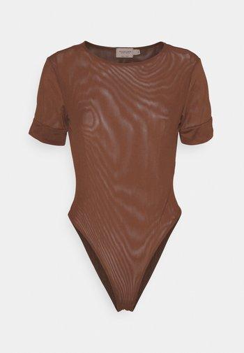 MATHILDE GØHLER - Basic T-shirt - dark brown