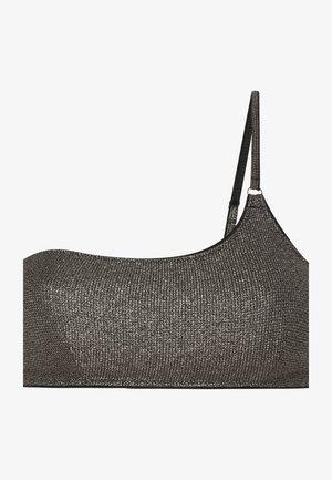 SHINY ASYMMETRIC  - Bikini top - dark grey