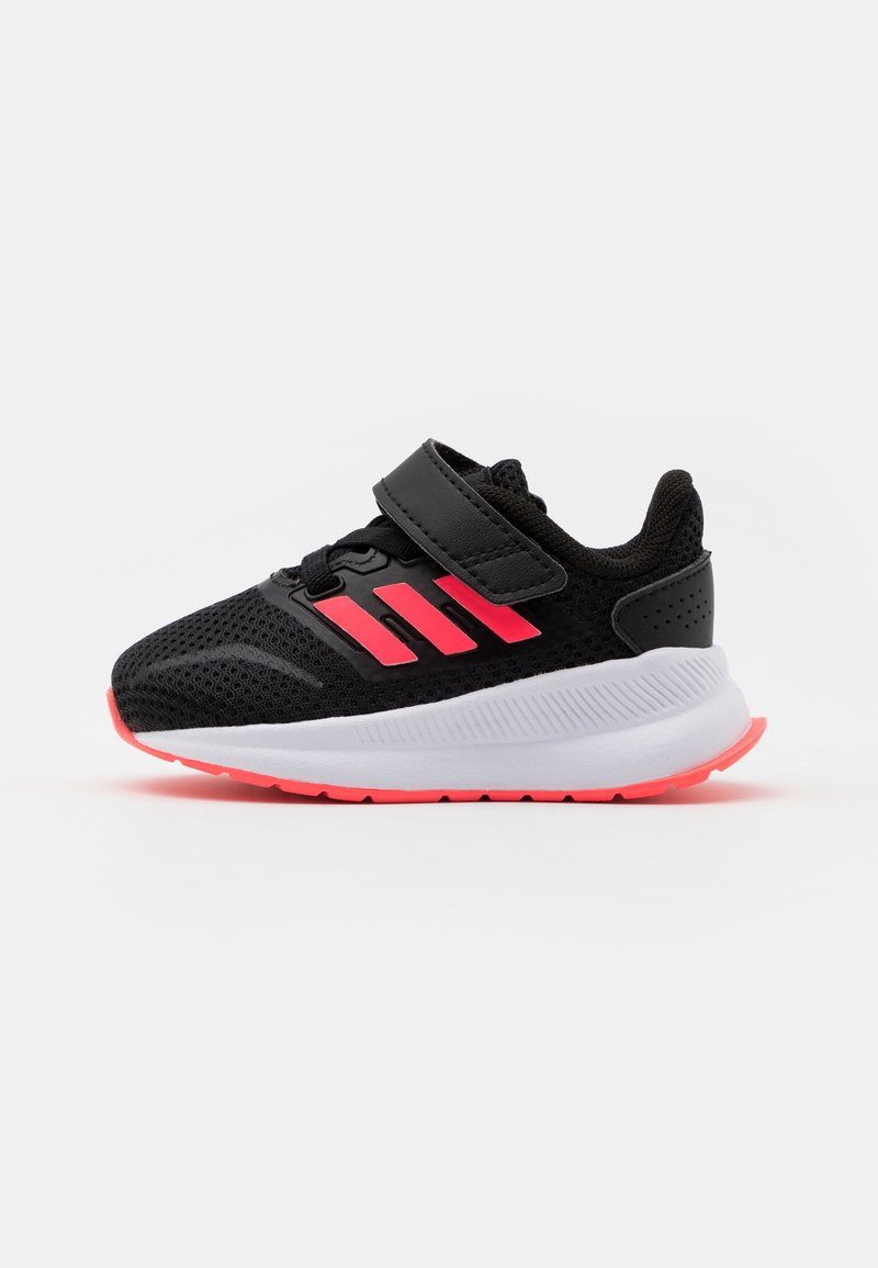 adidas Performance - RUNFALCON I UNISEX - Neutral running shoes - core black/signal pink/footwear white
