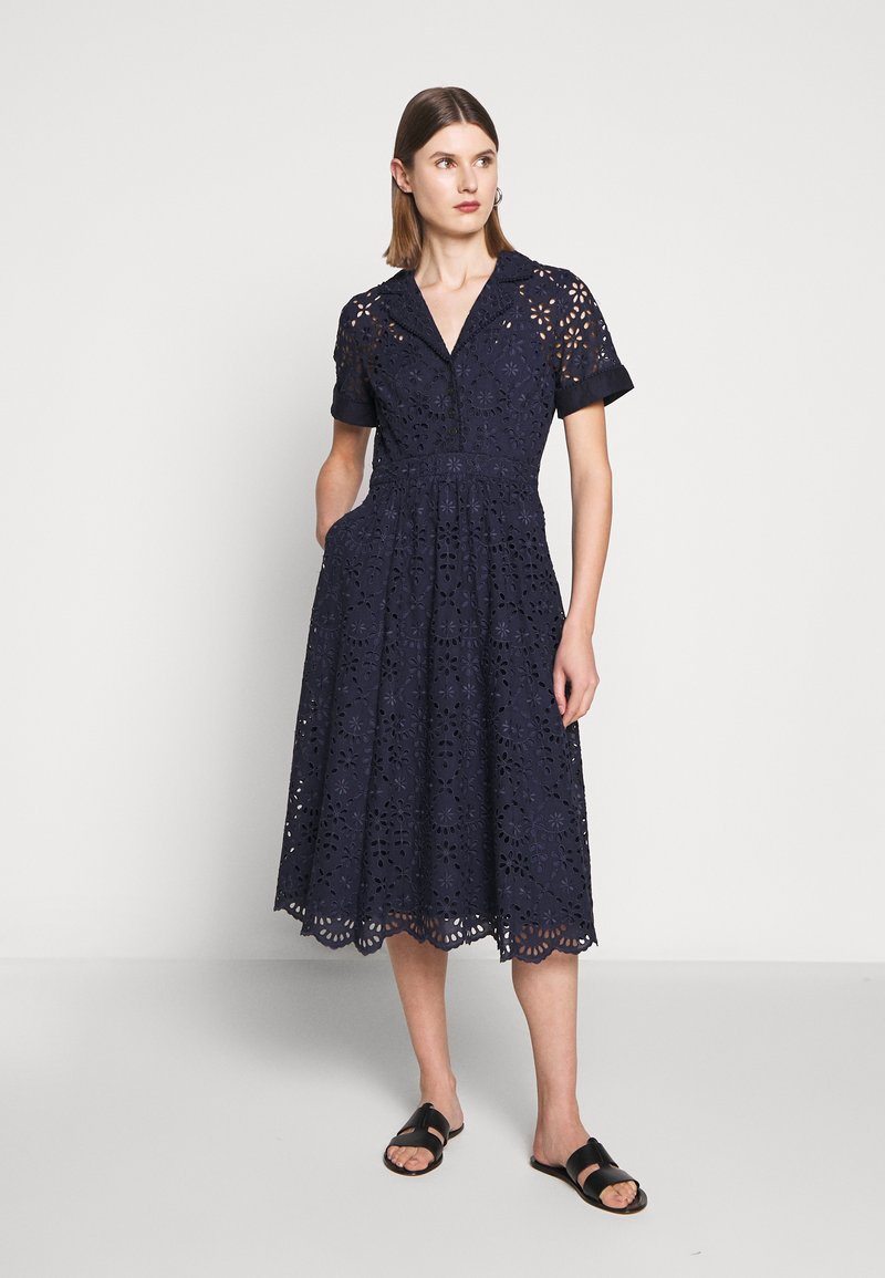 J.CREW - MAHALIA DRESS - Košilové šaty - navy