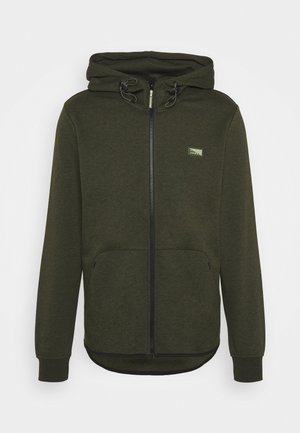 JCOAIR ZIP HOOD - Zip-up hoodie - deep lichen green