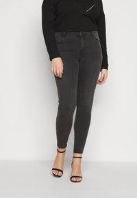 Vero Moda Curve - VMTANYA PIPING - Jeans Skinny Fit - dark grey denim - 0