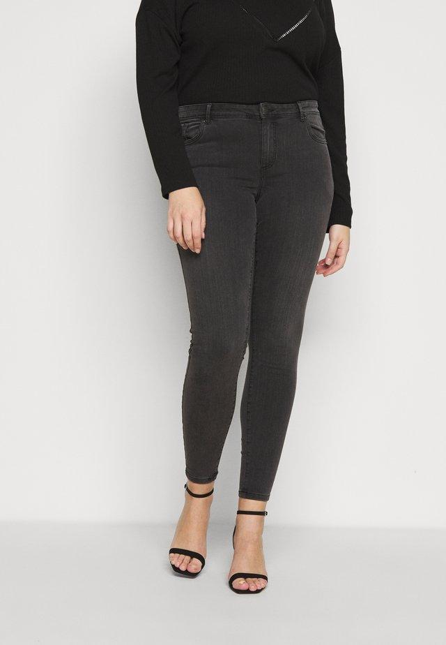 VMTANYA PIPING - Jeans Skinny Fit - dark grey denim