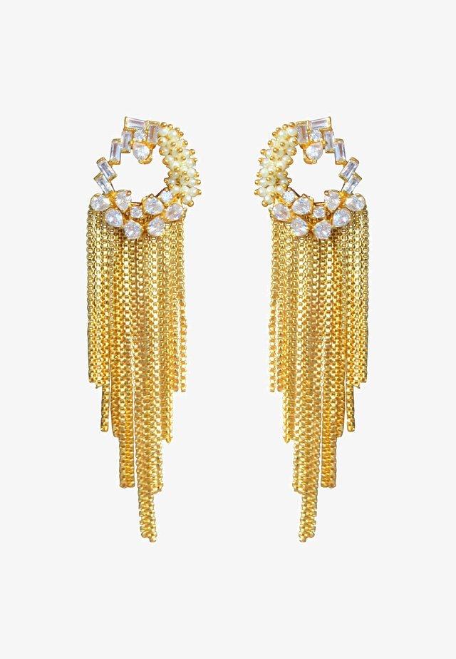 SAMBALPUR LONG  - Boucles d'oreilles - gold