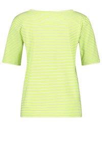 Gerry Weber - Print T-shirt - ecru/weiss/grün ringel - 1