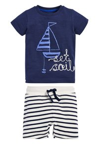 Next - BLUE SET SAIL T-SHIRT AND SHORTS SET (3MTHS-7YRS) - Shorts - blue - 0