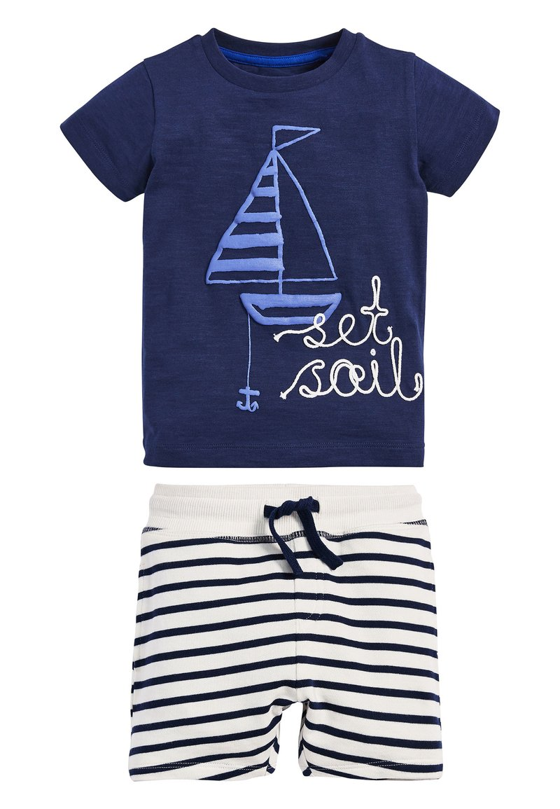 Next - BLUE SET SAIL T-SHIRT AND SHORTS SET (3MTHS-7YRS) - Shorts - blue