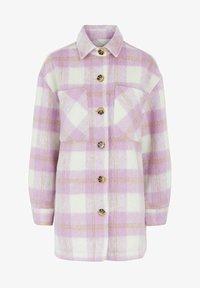 Pieces - PCAMALIA LONG SHACKET - Short coat - pastel lavender - 0