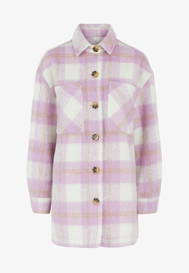 Pieces - PCAMALIA LONG SHACKET - Short coat - pastel lavender