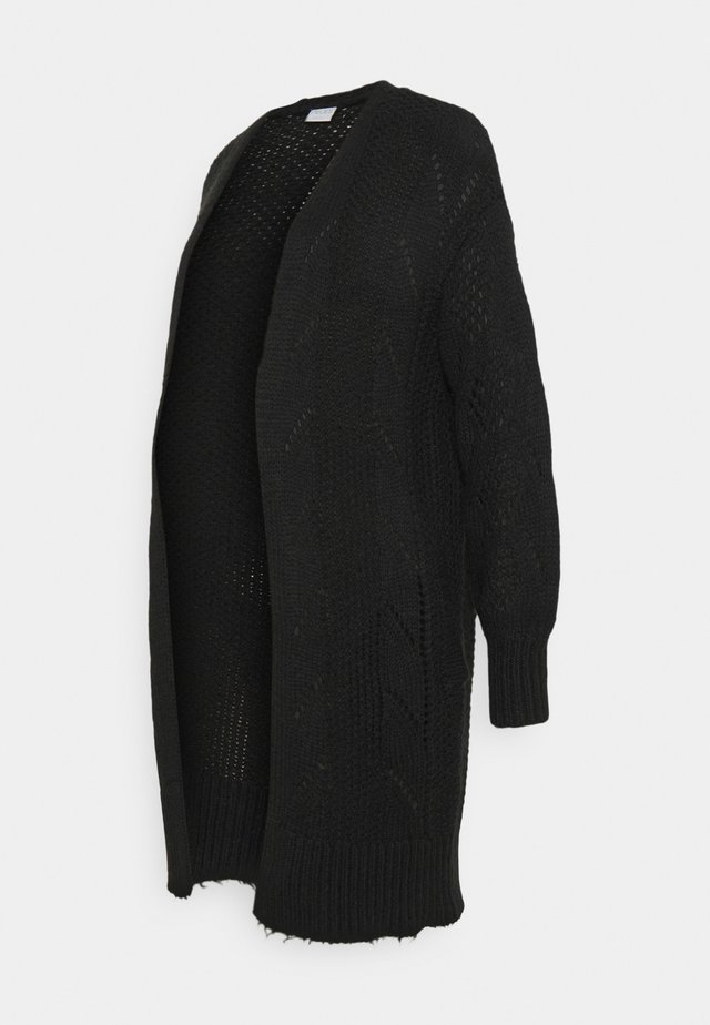 PCMPENELOPE LONG CARDIGAN  - Gilet - black