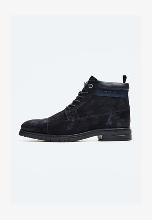 THOMAS FLEX - Lace-up ankle boots - azul marino
