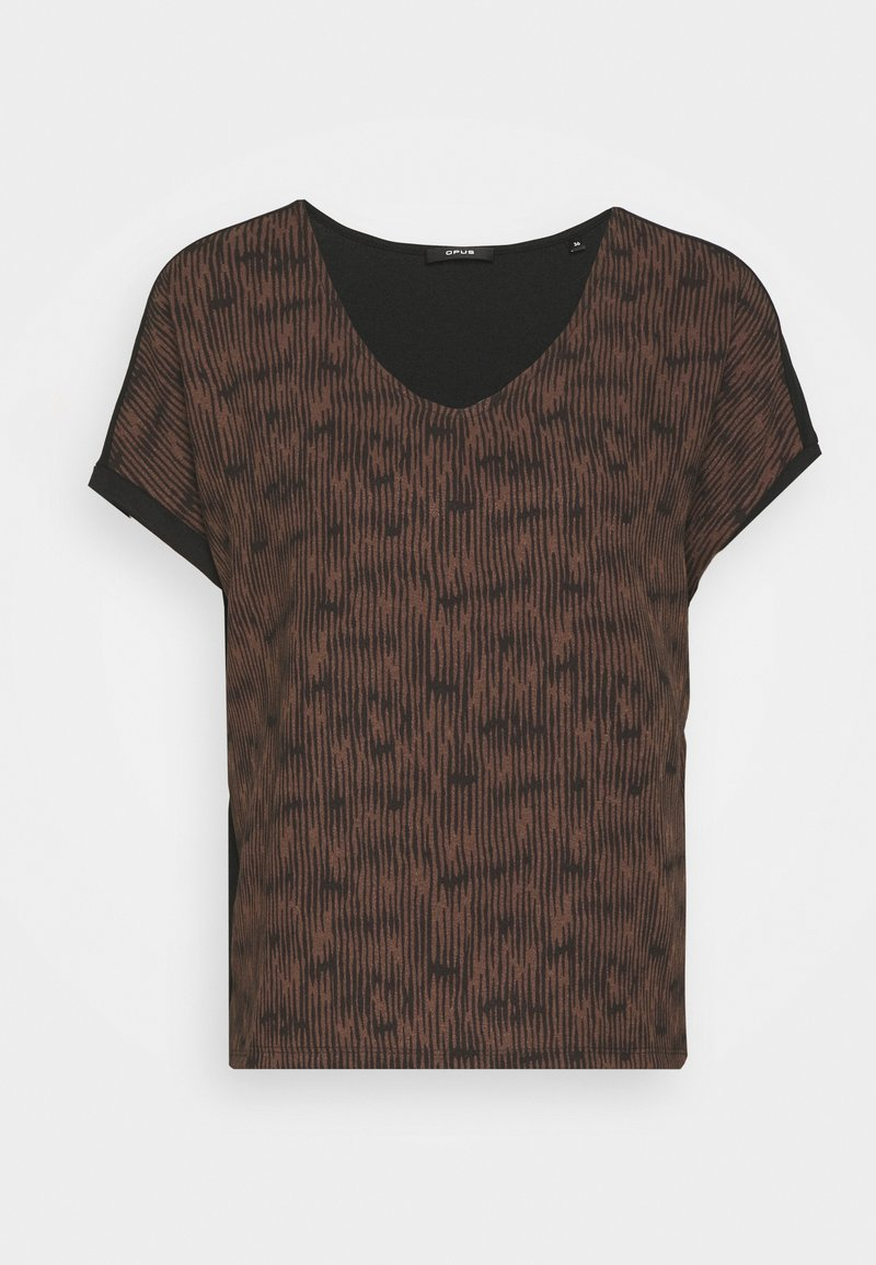 Opus - SUMINCHEN ETHNO - Print T-shirt - black