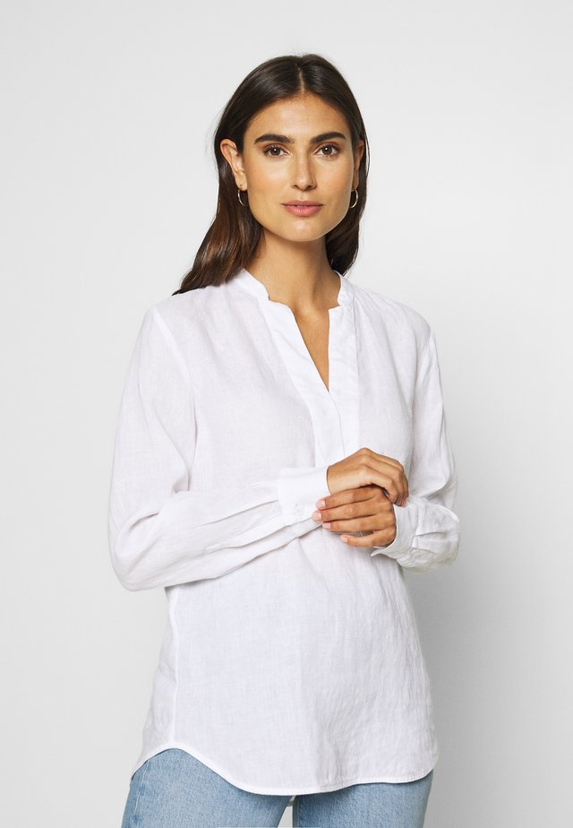 BLOUSE LONG SLEEVED - Pusero - white