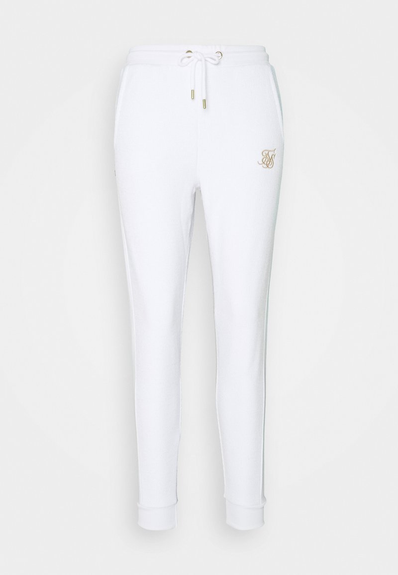 SIKSILK - WEAVE JOGGER - Tracksuit bottoms - white