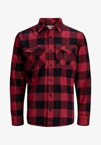 Jack & Jones PREMIUM - WOLLMISCHFASER - Shirt - pompeian red - 0
