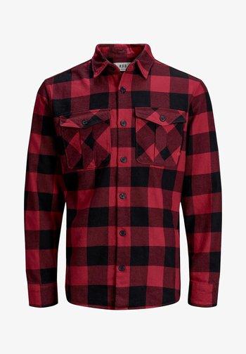 WOLLMISCHFASER - Shirt - pompeian red