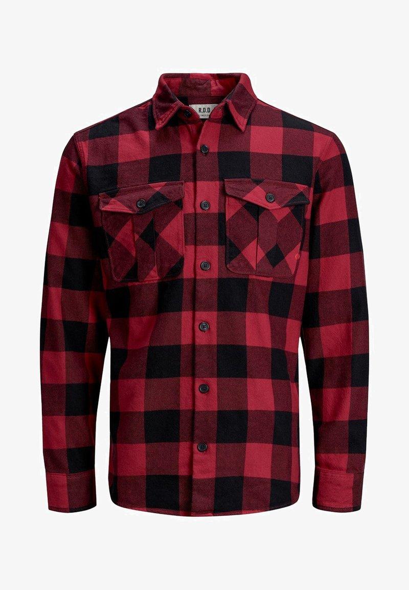 Jack & Jones PREMIUM - WOLLMISCHFASER - Shirt - pompeian red
