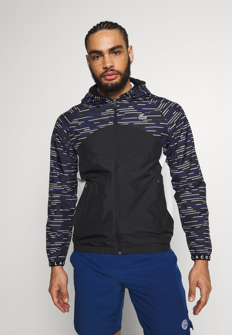 Lacoste Sport - WINDJACKET - Training jacket - black/white/cosmic/calluna/white