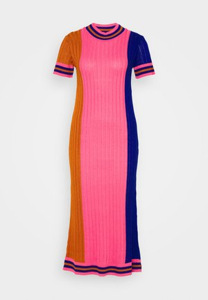 DRESS - Shift dress - gold/pink/blue