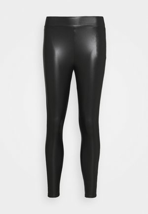 ONLCOOL COATED - Leggings - Trousers - black