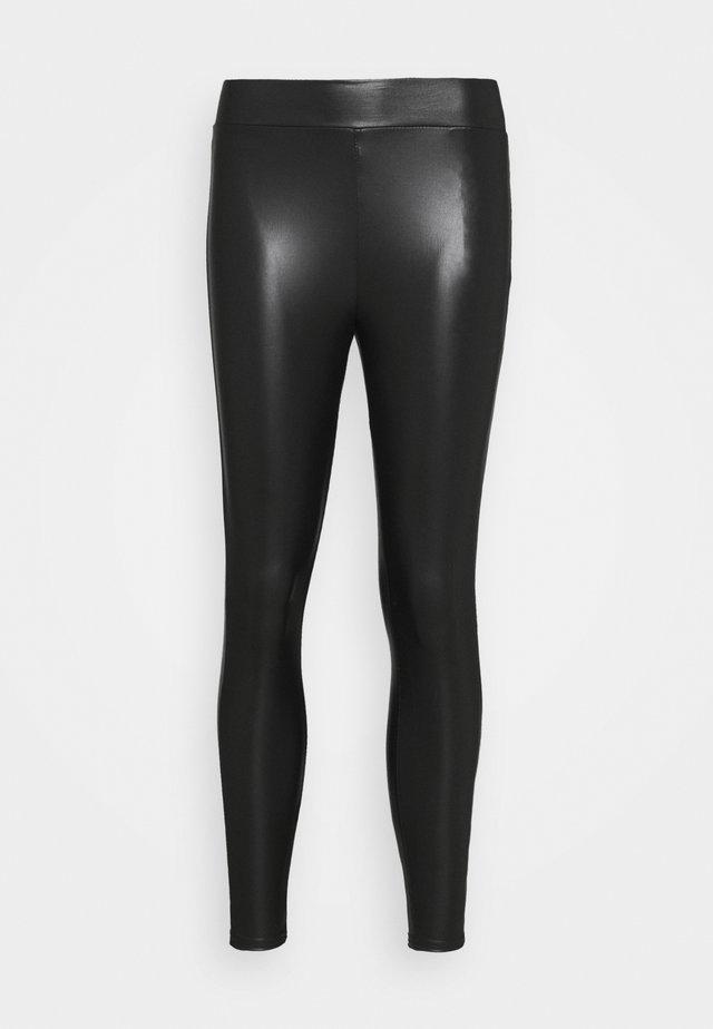 ONLCOOL COATED - Leggings - Trousers - black