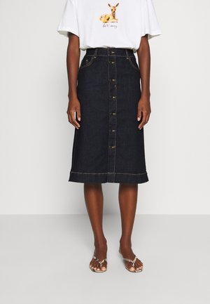 YOKE - Denim skirt - indigo blue denim