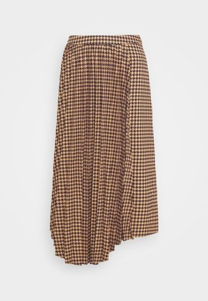 BELLIS SKIRT - Pleated skirt - brown