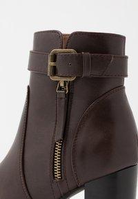 Anna Field - High heeled ankle boots - dark brown - 2