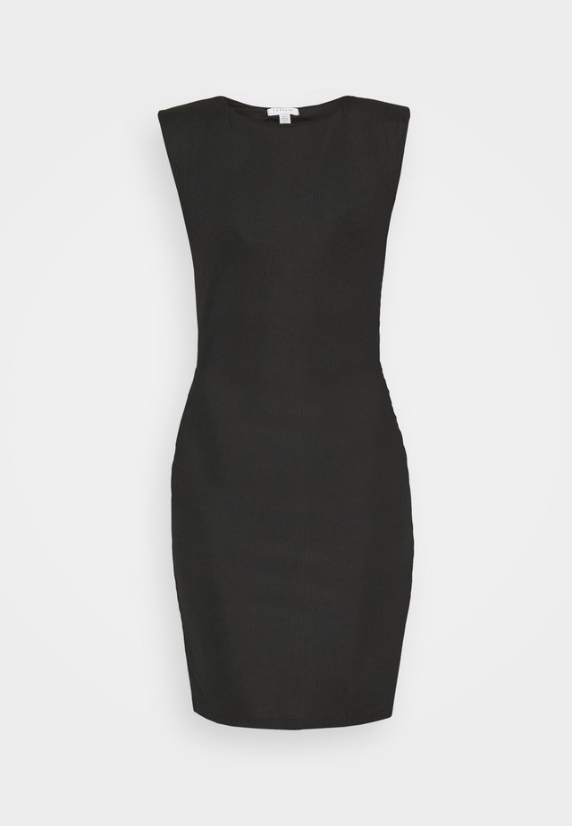 SHOULDER PAD BODYCON - Pouzdrové šaty - black