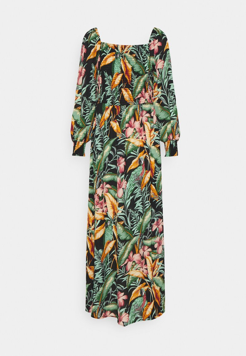 JDY - JDYMINA 3/4 SMOCK ANKLE DRESS - Maxi dress - black/multicolor