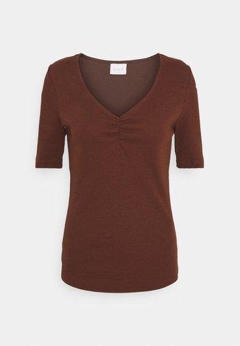 VIFELIA - T-shirt basic - chocolate fondant
