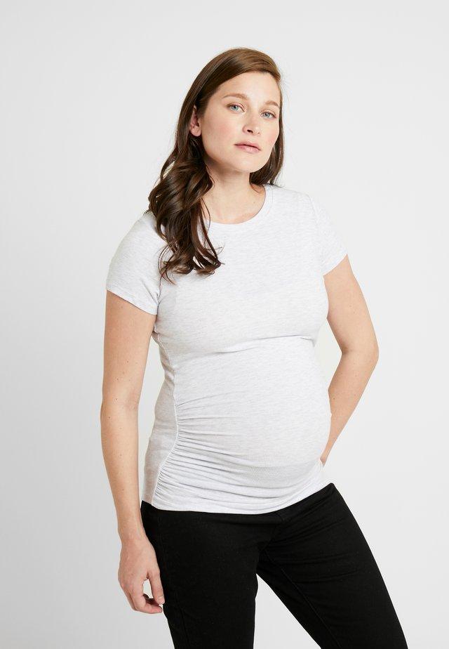 MATERNITY  FRONT SHORT SLEEVE - Basic T-shirt - grey marle
